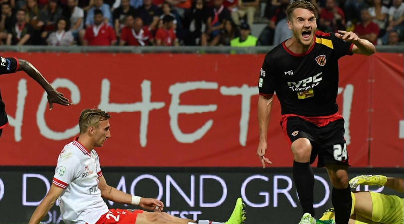 Serie B, Benevento in finale play off: a Perugia è 1-1
