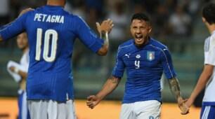 Italia-San Marino 8-0, Lapadula gol e magie