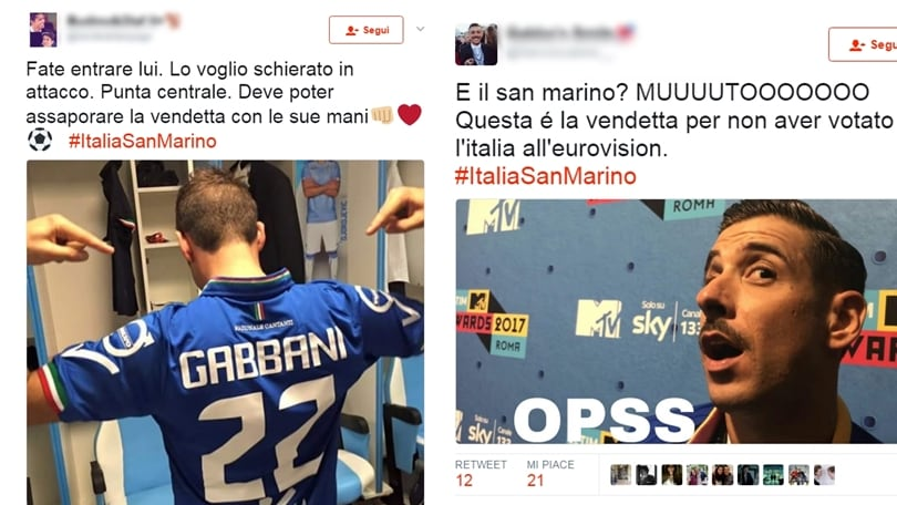 Italia-San Marino, gli italiani esultano... nel segno di Gabbani