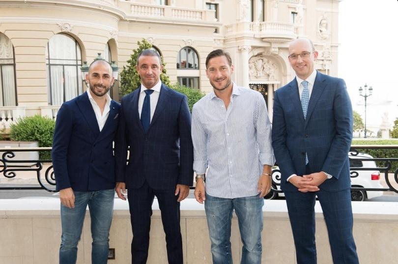 Totti, relax a Montecarlo. C'è anche Di Vaio