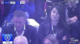 Champions League, Ilaria D'Amico seduta accanto a Lapo Elkann a Cardiff