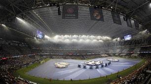 Champions League, la coreografia dei tifosi della Juventus