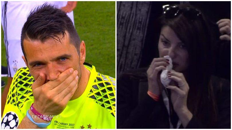 Champion League, Ilaria D'Amico e Buffon: lacrime dopo la finale persa