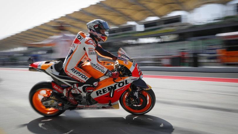 MotoGp Honda, Marquez: «Mi accontento del sesto posto»