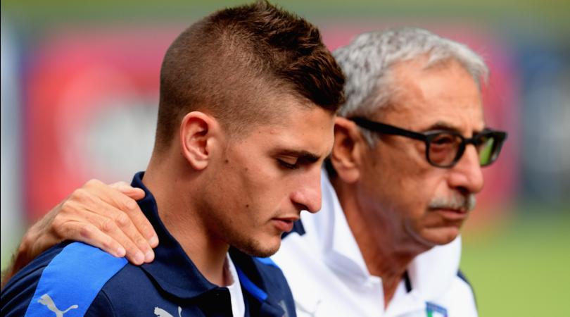 Italia, Verratti torna in Francia: azzurri senza la 10