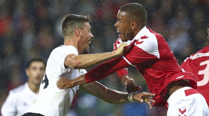 Amichevoli, Danimarca-Germania 1-1: errore di Rüdiger sul gol di Eriksen