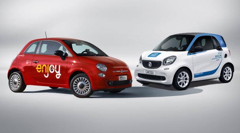 Car sharing: Enjoy e Car2go atterrano a Fiumicino