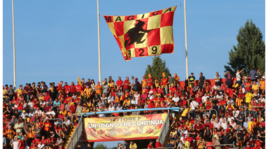 Benevento, tifosi in festa prima della finale di ritorno contro il Carpi