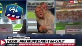 Svezia, la giornalista impazzisce di gioia al gol di Toivonen con la Francia