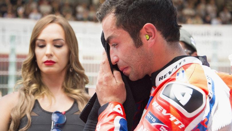 MotoGp, Petrucci: «Volevo il podio, ma ho fatto un errore»