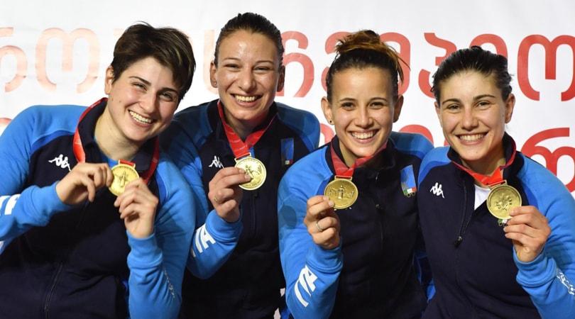 Europei Scherma: Italia d'oro nella sciabola femminile