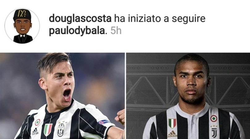 Calciomercato Juventus Douglas Costa segue Dybala su Instagram