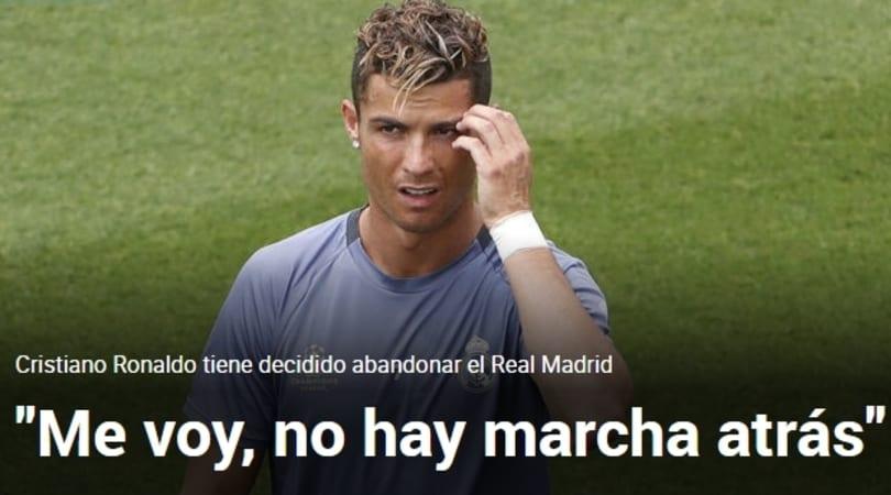 Conferme dalla Spagna: Cristiano Ronaldo vuole lasciare il Real Madrid