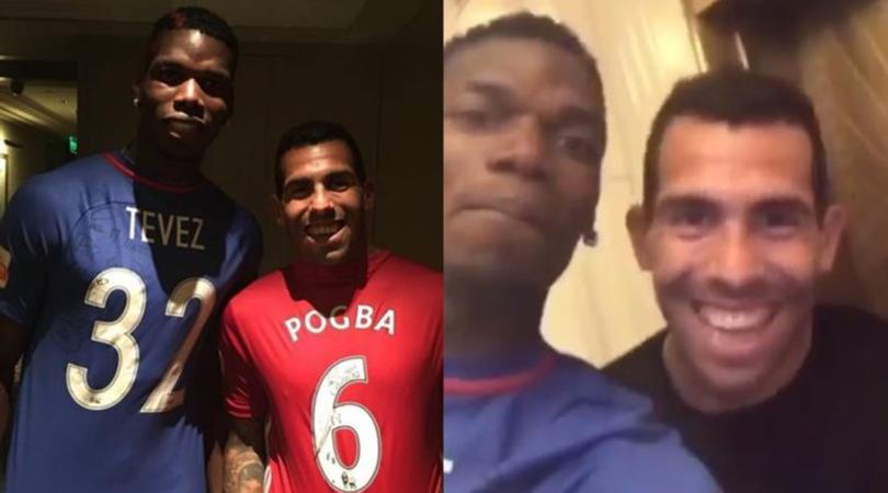 Pogba-Tevez, insieme in Cina: «Che bello vederti, fratello!»