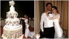 Gabbiadini sposa Martina, la torta è esagerata!