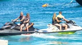 Roma, Totti e Nainggolan a Mykonos con le famiglie