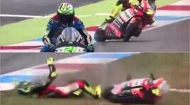 Moto2, Assen: terribile incidente a Baldassarri, prove fermate