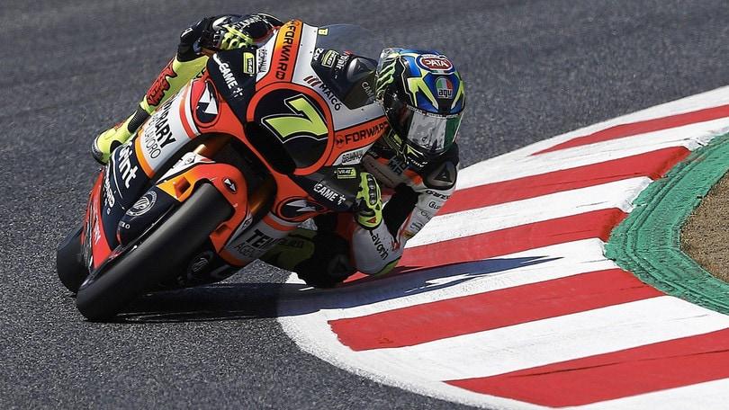 Moto2, Assen: Baldassarri ok, ma che spavento!