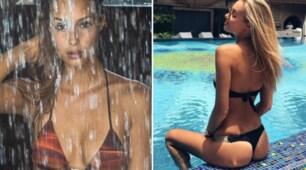 Viky Varga in vacanza tra docce hot e sexy relax