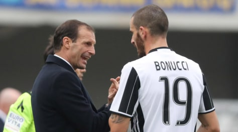 Juventus, Allegri: «Bonucci futuro leader dello spogliatoio»