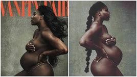 Serena Williams posa nuda con il pancione su Vanity Fair