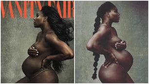 Serena Williams posa nuda con il pancione su Vanity Fair
