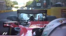 F1, scintille a Baku: contatto Vettel-Hamilton