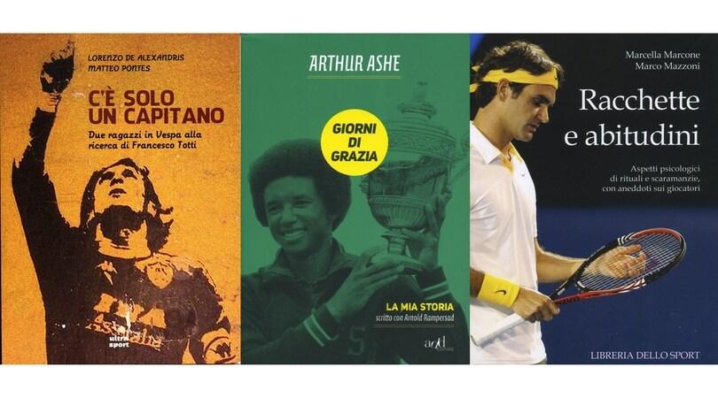 Un viaggio sulle orme di Totti e due libri sul tennis