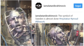 L'inquietante statua di Ibrahimovic