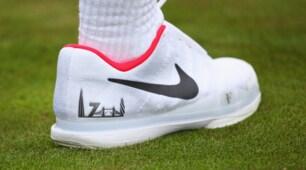 Wimbledon: lo skyline di Londra sulle scarpe da tennis di Federer