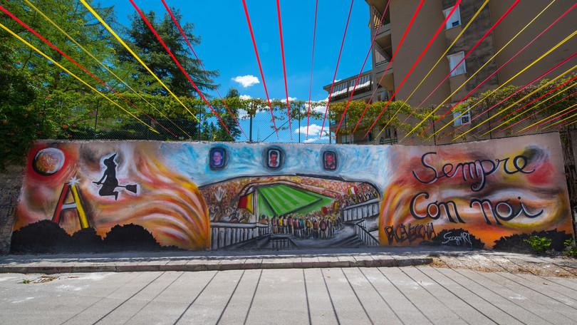 Benevento, un murales speciale per la A