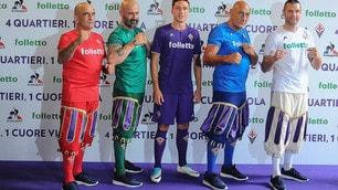 Chiesa e i capitani del calcio storico: ecco la nuova maglia della Fiorentina