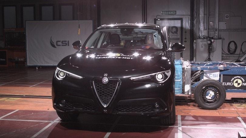 Crash test Euro NCAP, 5 stelle per la Alfa Romeo Stelvio