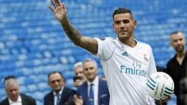 Theo Hernandez presentato al Real Madrid