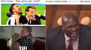 Dani Alves: «Juventus? Psg più ambizioso». Tifosi sul web scatenati