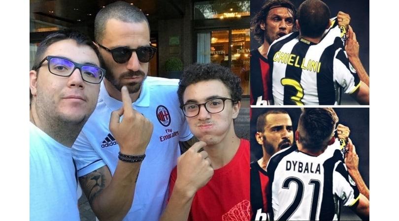 Bonucci-Milan: saluto alla Juve, senza Allegri...