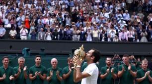 Wimbledon si inchina a Roger Federer: 8volte campione