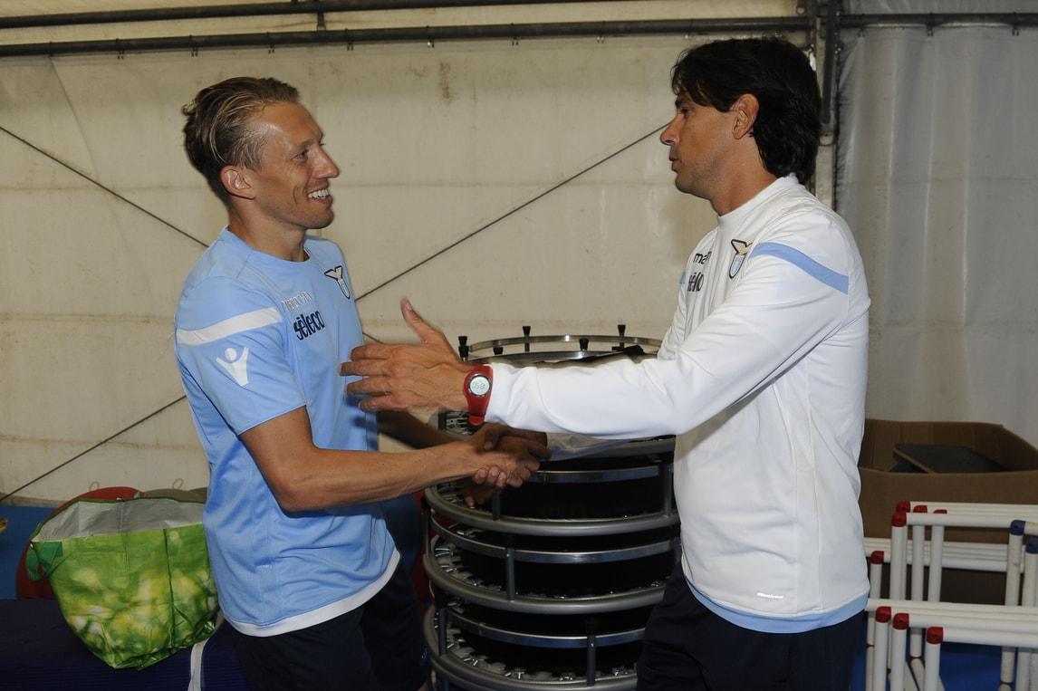 Lazio, Inzaghi accoglie Lucas Leiva in ritiro