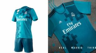 Real Madrid, lo strano mosaico della terza maglia 2017/2018