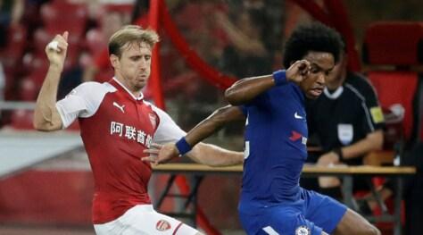 A Pechino il Chelsea travolge 3-0 l'Arsenal