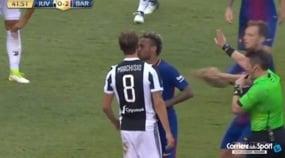 Duro faccia a faccia tra Marchisio e Neymar