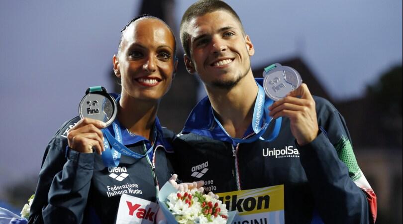 Nuoto, rientro trionfale per gli azzurri del sincro