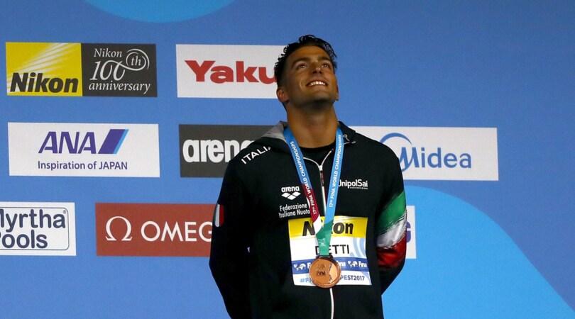 Mondiali nuoto, Detti conquista il bronzo nei 400 sl