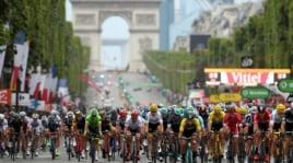 Tour de France, l'arrivo agliChamps-Élysées e la premiazione