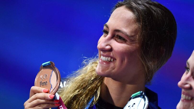 Mondiali nuoto, Simona Quadarella è di bronzo nei 1500 sl