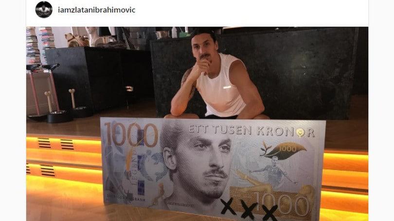 Ibrahimovic, altra spacconata: il suo volto sulle corone svedesi. E spunta la maglia del Milan