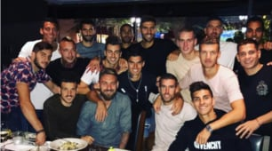 Roma, cena a Boston per festeggiare De Rossi e Perotti