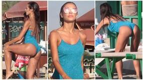 Alessia Reato, doccia sexy e show in spiaggia