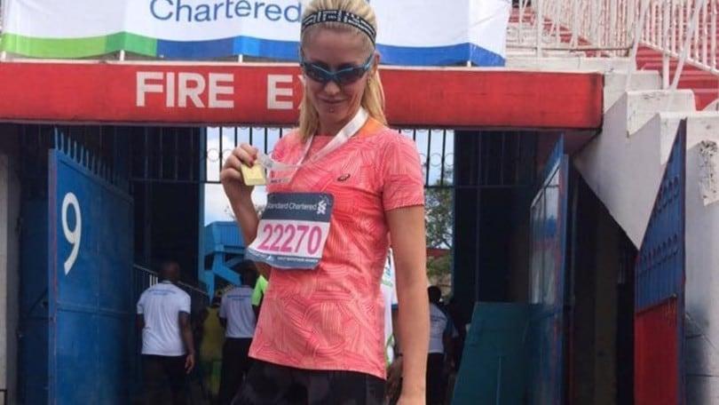L'ex velina Marina Graziani madrina e runner della Mezza d'Italia a Imola