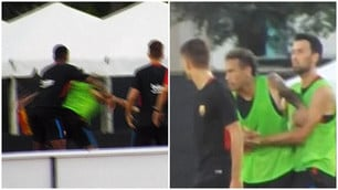 Neymar-Semedo, clamorosa rissa durante l'allenamento del Barcellona